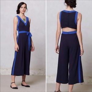 ⬇️anthro Elevenses Becas Cropped Leg Jumpsuit
